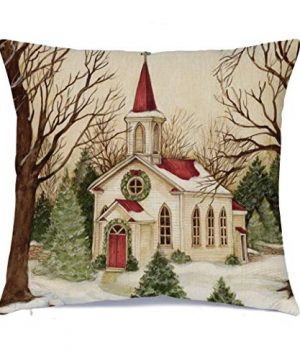Hlonon Christmas Decorations Christmas Pillow Covers 18 X 18 Inches Set Of 4 Xmas Series Cushion Pillow Cover Custom Zippered Square Pillowcase 0 300x360