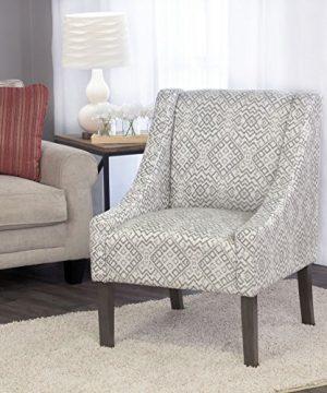 HomePop Modern Swoop Arm Accent Chair Gray Geomtric Medium 0 300x360