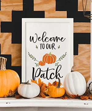 Horaldaily Wall Decor Signs With 10 Interchangeable Seasonal Holiday Sayings Fall Thanksgiving Halloween Summer Farmhouse White Solid Wood Framed Printed Sign With HD Plexiglass 11 X 16 Inch 0 2 300x360