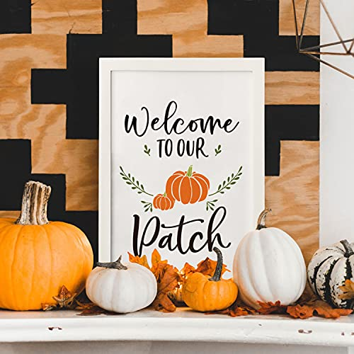 Horaldaily Wall Decor Signs With 10 Interchangeable Seasonal Holiday Sayings Fall Thanksgiving Halloween Summer Farmhouse White Solid Wood Framed Printed Sign With HD Plexiglass 11 X 16 Inch 0 2