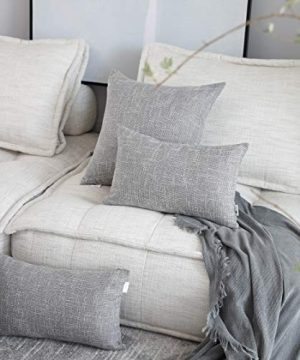 Kevin Textile Decorative Throw Pillow Covers Star Modern Farmhouse Pillowcases Indoor Outdoor Set Of 2 20 X 20 Inches 50x50cm Grey 0 0 300x360