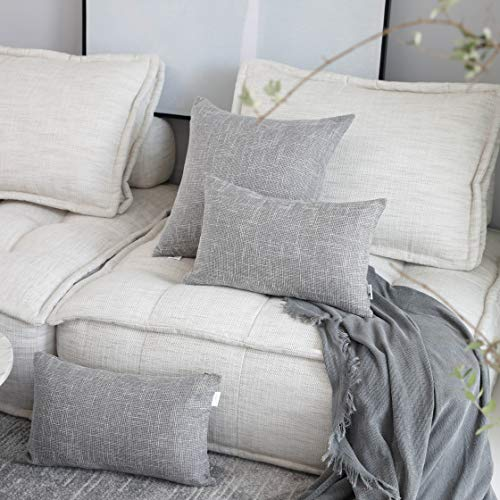 Kevin Textile Decorative Throw Pillow Covers Star Modern Farmhouse Pillowcases Indoor Outdoor Set Of 2 20 X 20 Inches 50x50cm Grey 0 0