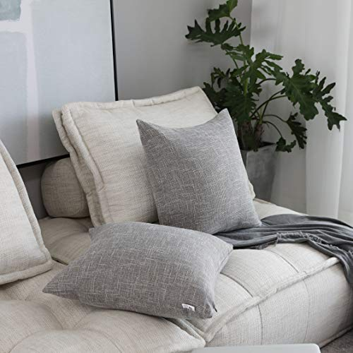 Kevin Textile Decorative Throw Pillow Covers Star Modern Farmhouse Pillowcases Indoor Outdoor Set Of 2 20 X 20 Inches 50x50cm Grey 0 3