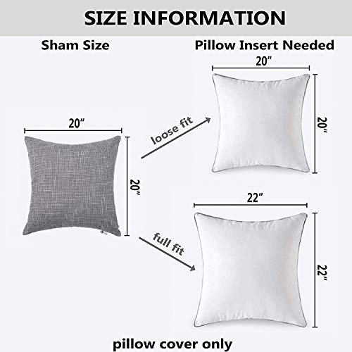 Kevin Textile Decorative Throw Pillow Covers Star Modern Farmhouse Pillowcases Indoor Outdoor Set Of 2 20 X 20 Inches 50x50cm Grey 0 4