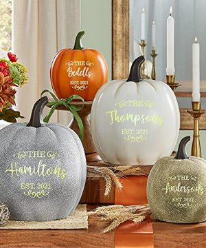 Lets Make Memories Personalized Light Up Pumpkin Family Name Jack O Lantern Halloween Decor Your Name Est Year On A Custom Pumpkin Fall Light Up IndoorsOutdoors Large Cream 0 0 300x360