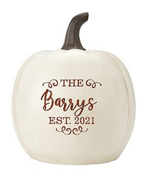 Lets Make Memories Personalized Light Up Pumpkin Family Name Jack O Lantern Halloween Decor Your Name Est Year On A Custom Pumpkin Fall Light Up IndoorsOutdoors Large Cream 0 300x360