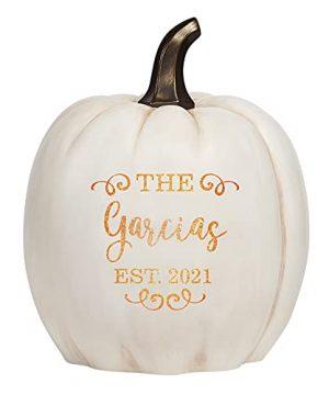 Lets Make Memories Personalized Light Up Pumpkin Family Name Jack O Lantern Halloween Decor Your Name Est Year On A Custom Pumpkin Fall Light Up IndoorsOutdoors XL Cream 0 300x360