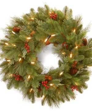 National Tree 24 Inch Noelle Wreath With 30 Battery Operated Soft White LED Lights NL13 300L 24WB1 0 300x360