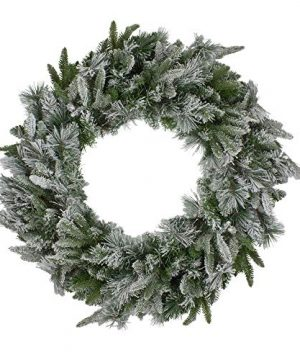 Northlight Flocked Mixed Colorado Pine Artificial Christmas Wreath 30 Inch Unlit 0 300x360