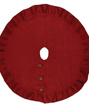 Park Designs Holiday Collection Jute Burlap Tree Skirt 60 Red 0 300x360