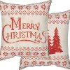 Primitives By Kathy Rustic Merry Christmas Throw Pillow 0 100x100