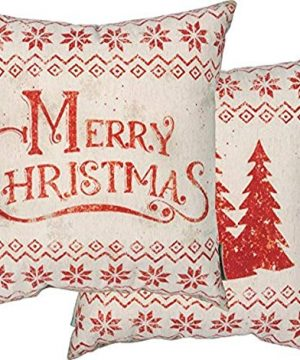 Primitives By Kathy Rustic Merry Christmas Throw Pillow 0 300x360
