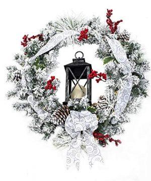 Quality Craft XW30202 Flocked Christmas Holiday Decoration Wreath 0 300x360