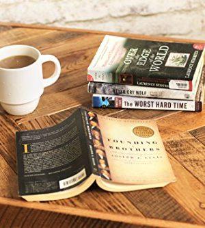 Reclaimed Wood Herringbone Coffee Table With Bottom Shelf 0 4 300x333