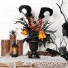 S DEAL Halloween Decorations Table Artificial Flowers Halloween Witch Boot And Fake Rose Tabletop Centerpieces Halloween House Haunted Decor 0 100x100