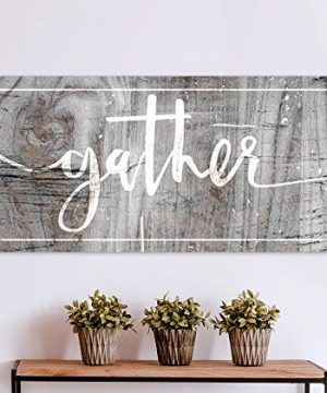 Sense Of Art Gather Quote Pantry Sign Pictures For Living Room Dining Room Wall Decor Farmhouse Decor Kitchen Decor Gather Signs For Home Decor Grey 42x19 0 300x360