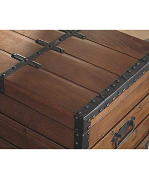 Signature Design By Ashley Kettleby Vintage Wood Storage Trunk Or Coffee Table With Lift Top 19 Brown 0 3 300x360
