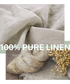 SimpleOpulence 100 Linen Duvet Cover Set 3 Piece Belgian Flax Breathable Bedding King Size 104x 92 1 Comforter Cover2 Pillowshams With Coconut Button Closure Natural Linen 0 1 300x360