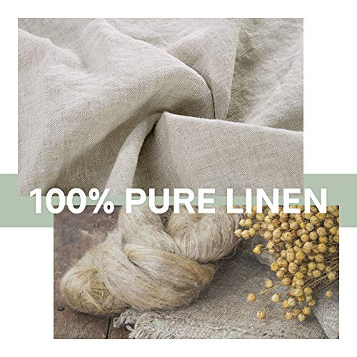 SimpleOpulence 100 Linen Duvet Cover Set 3 Piece Belgian Flax Breathable Bedding King Size 104x 92 1 Comforter Cover2 Pillowshams With Coconut Button Closure Natural Linen 0 1