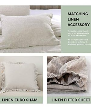 SimpleOpulence 100 Linen Duvet Cover Set 3 Piece Belgian Flax Breathable Bedding King Size 104x 92 1 Comforter Cover2 Pillowshams With Coconut Button Closure Natural Linen 0 4 300x360