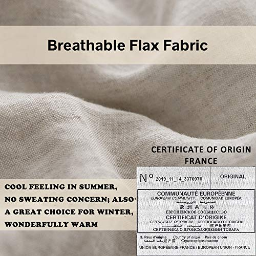 SimpleOpulence 100 Linen Duvet Cover Set With Embroidery Washed 3 Pieces 1 Duvet Cover With 2 Pillow Shams With Button Closure Soft Breathable Farmhouse Linen California King Size 0 2