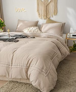 Taupe Ruched Lace Bedding Shabby Chic Duvet Cover Set Solid Ruched Lace Design Taupe Bedding Sets Twin 1 Frill Duvet Cover 1 Pillowcase Twin Taupe 0 300x360