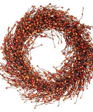 The Wreath Depot Weston Fall Berry Wreath 22 Inches Beautiful White Gift Box Included 0 300x360