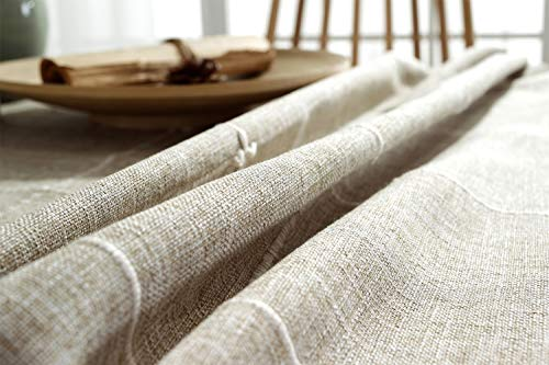 TruDelve Heavy Duty Cotton Linen Table Cloth For Square Tables Solid Embroidery Lattice Tablecloth For Kitchen Dinning Tabletop Decoration 52x52 Linen 0 5