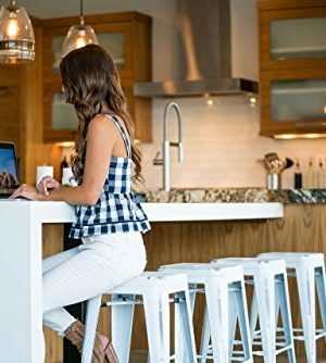 UrbanMod 24 Stool Set Of 4 By Distressed White Rustic Bar Stools Counter Height Stools 330lb Capacity Metal Stool Chair Stackable IndoorOutdoor Bar Stools For Kitchen Counter And Island 0 2 300x334