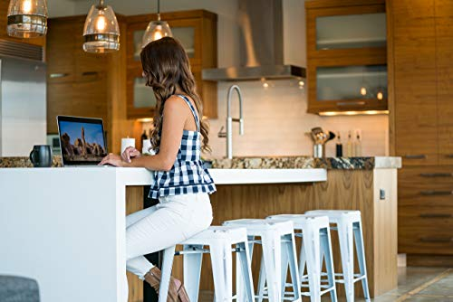 UrbanMod 24 Stool Set Of 4 By Distressed White Rustic Bar Stools Counter Height Stools 330lb Capacity Metal Stool Chair Stackable IndoorOutdoor Bar Stools For Kitchen Counter And Island 0 2