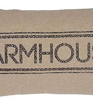 VHC Brands Pillows Throws Sawyer Mill Tan 14 X 22 Pillow 14x22 Farmhouse Charcoal 0 300x328