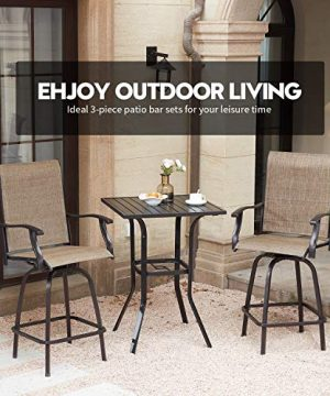VICLLAX Outdoor Swivel Bar Stools Set Of 4 All Weather Patio Bar Height Chairs 0 0 300x360