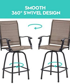 VICLLAX Outdoor Swivel Bar Stools Set Of 4 All Weather Patio Bar Height Chairs 0 3 300x360