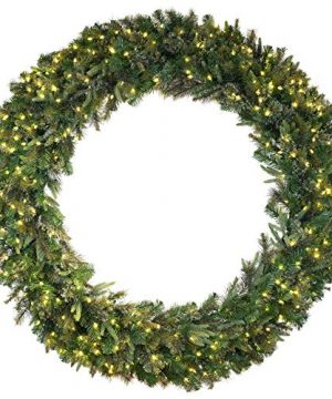Vickerman 84 Cashmere Pine Artificial Christmas Wreath Warm White Dura Lit LED Lights Faux Pine Christmas Wreath Seasonal Indoor Home Decor 0 300x360