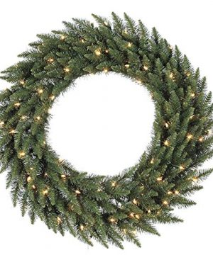 Vickerman Clear Dura Lit Lights Frosted Bellevue Alpine Artificial Christmas Wreath 72 Inch 0 300x360