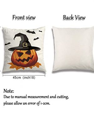 Wareon Halloween Decorations Throw Pillow Covers 18x18 Inches Set Of 4 Halloween Decor Clearance Trick Or Treat Farmhouse Pumpkin Bat Cushion Cover For Sofa Couch Living Indoor Room Bedroom Outdoor 0 0 300x360