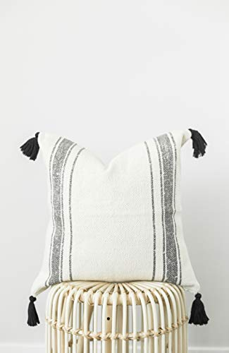 Woven Nook Decorative Tassel Throw Pillow Covers Luca Set Pack Of 2 18 X 18 0 0