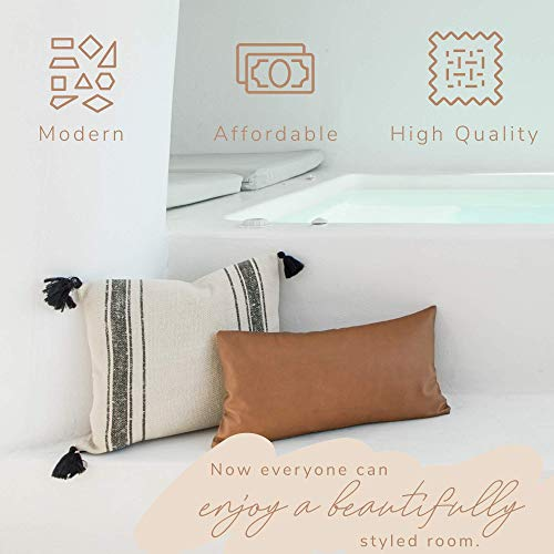 Woven Nook Decorative Tassel Throw Pillow Covers Luca Set Pack Of 2 18 X 18 0 3