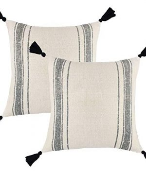 Woven Nook Decorative Tassel Throw Pillow Covers Luca Set Pack Of 2 18 X 18 0 300x360
