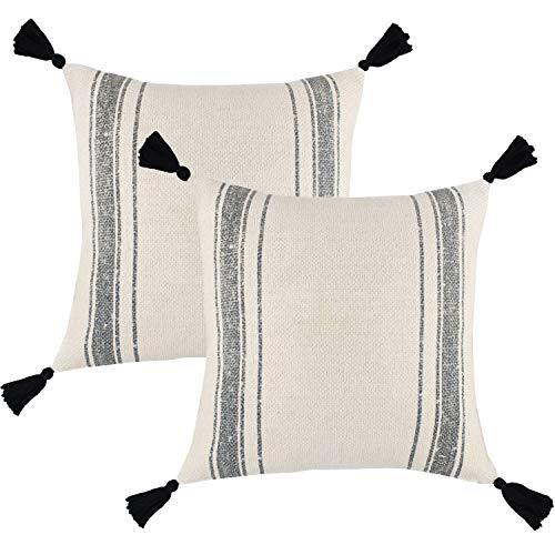 Woven Nook Decorative Tassel Throw Pillow Covers Luca Set Pack Of 2 18 X 18 0