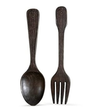 16 Wooden Jumbo Fork And Spoon Wall Decor Set Of 2 Large Spoon And Fork Wall Decor Modern Farmhouse Kitchen Decor Vintage Rustic Home Kitchen Wall Decoration 0 300x360