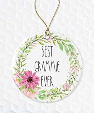 Best Grammie Ever Ornament Rae Dunn Ornament Gift For Grammie Floral Christmas Ornament Gift For Wife For Grammie From Daughter Both Sides 0 300x360