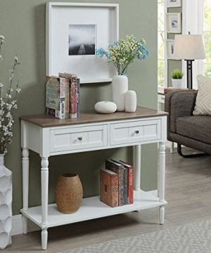 Convenience Concepts French Country Two Drawer Hall Table Driftwood White 0 300x360