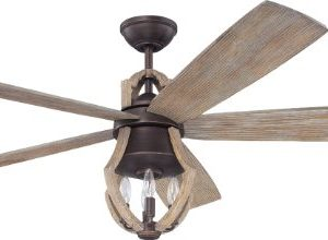 Craftmade Rustic Ceiling Fan With Light And Remote WIN56ABZWP5 Winton Aged Bronze Weathered Pine Blades 0 300x220