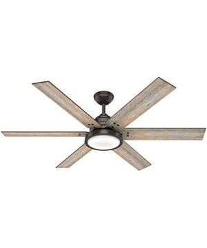 Hunter Fan Company 59461 Warrant 60 Inch Multiple Speed Ceiling Fan With LED Light Remote Control And Reversible Blades Noble Bronze Finish 0 300x360