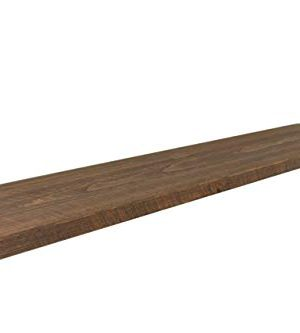 Joels Antiques 2 Thick X 10 Deep Floating Shelf Heavy Duty Easy Hang Solid Wood Rustic Contemporary USA Handmade Medium Brown 72 0 300x333