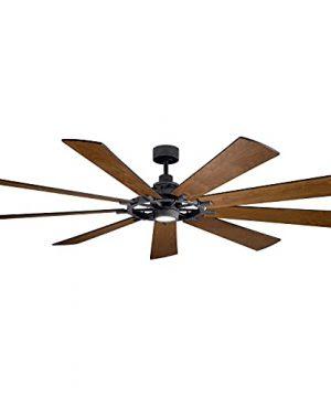 Kichler 300285DBK Gentry XL Ceiling Fan 1 Light Distressed Black 0 300x360