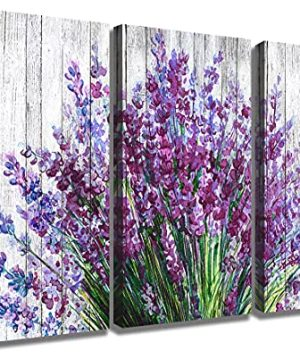 Lavender Wall Art Bathroom Decor Purple Flower Pictures For Bedroom Rustic Floral Canvas Home Decorations Prints 12x16 Modern Blossom Painting Vintage Living Room Kitchen Artwork Posters 3 Panels 0 300x360