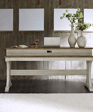 Liberty Furniture Industries Farmhouse Reimagined Console Bar Table W76 X D22 X H36 White 0 300x360