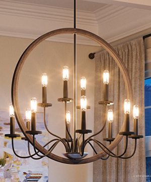 Luxury Modern Farmhouse Chandelier Large Size 2875H X 32W With English Country Style Elements Olde Bronze Finish UHP2370 From The Dunkirk Collection By Urban Ambiance 0 300x360